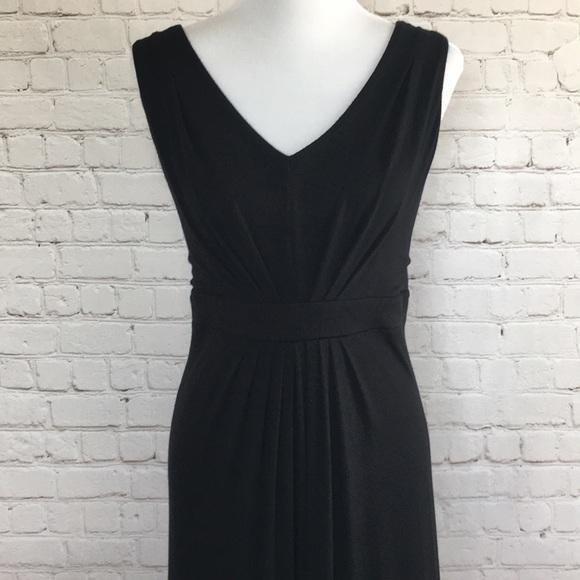 LOFT Dresses & Skirts - Loft Pleated Black Maxi Dress XL